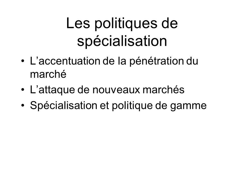 Les politiques de spécialisation