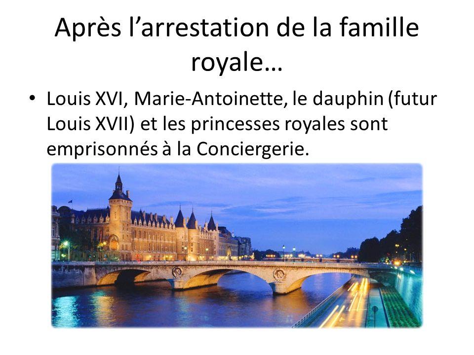 Après l'arrestation de la famille royale…