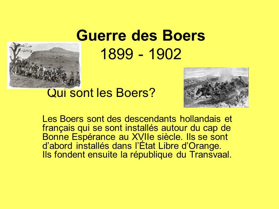 Guerre des Boers 1899 - 1902 Qui sont les Boers