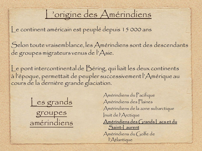 L'origine des Amérindiens