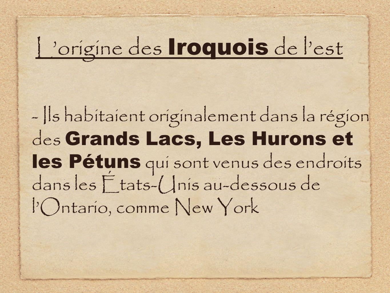L'origine des Iroquois de l'est