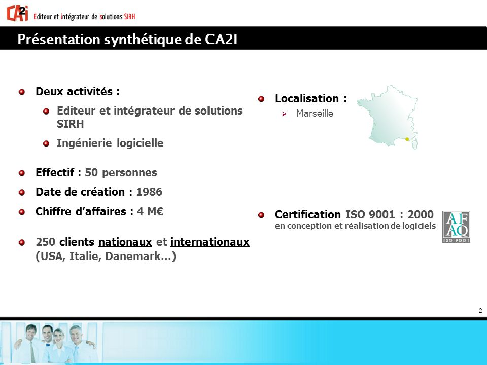 Présentation synthétique de CA2I