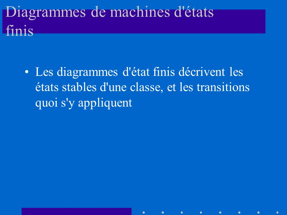 Diagrammes de machines d états finis