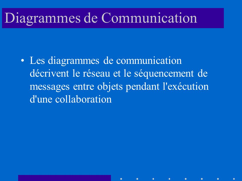 Diagrammes de Communication
