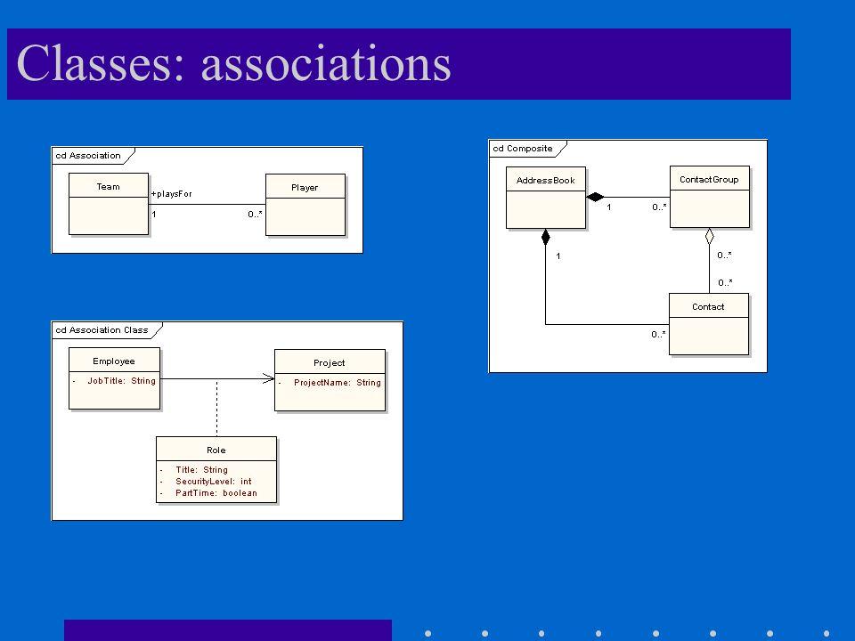 Classes: associations