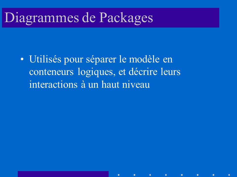 Diagrammes de Packages