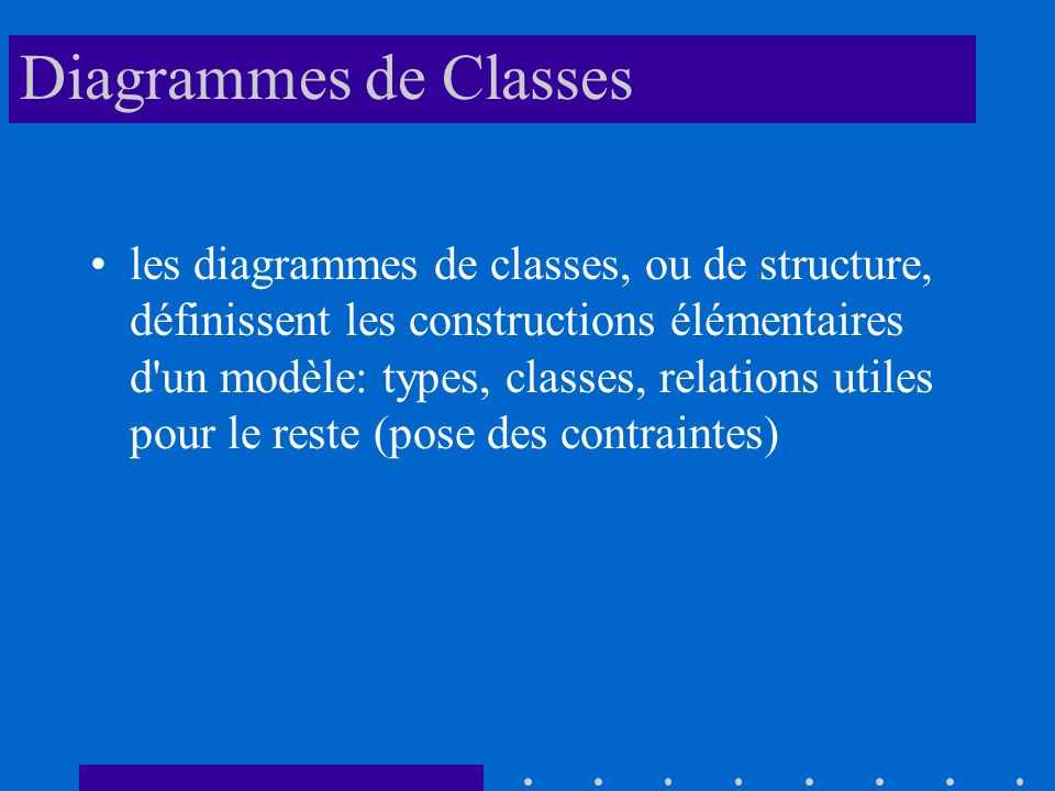 Diagrammes de Classes