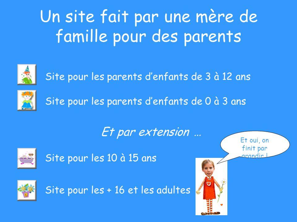 Un site fait par une mère de famille pour des parents