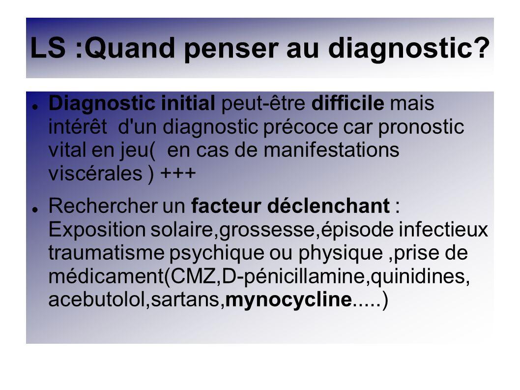 LS :Quand penser au diagnostic