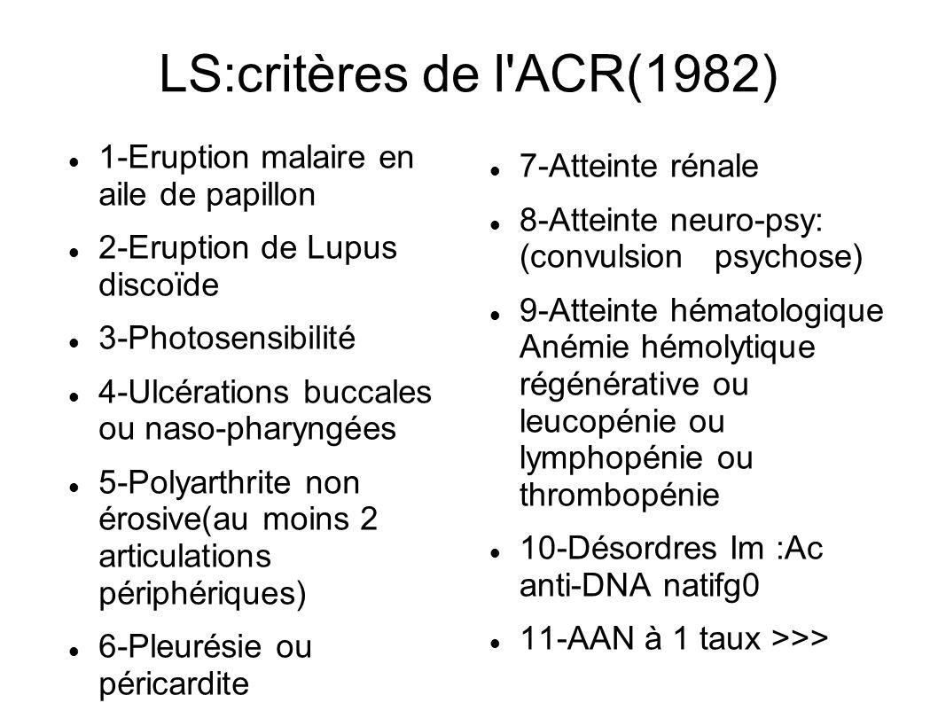 LS:critères de l ACR(1982)