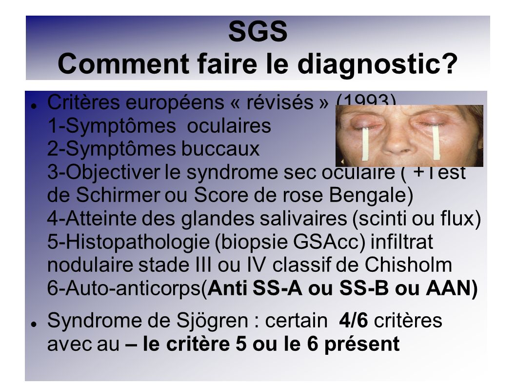 SGS Comment faire le diagnostic