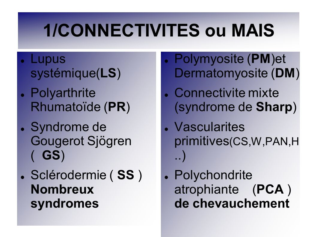 1/CONNECTIVITES ou MAIS