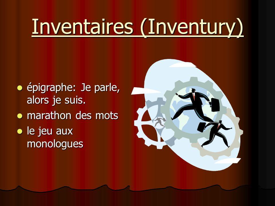 Inventaires (Inventury)