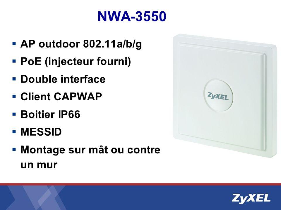 NWA-3550 AP outdoor 802.11a/b/g PoE (injecteur fourni)