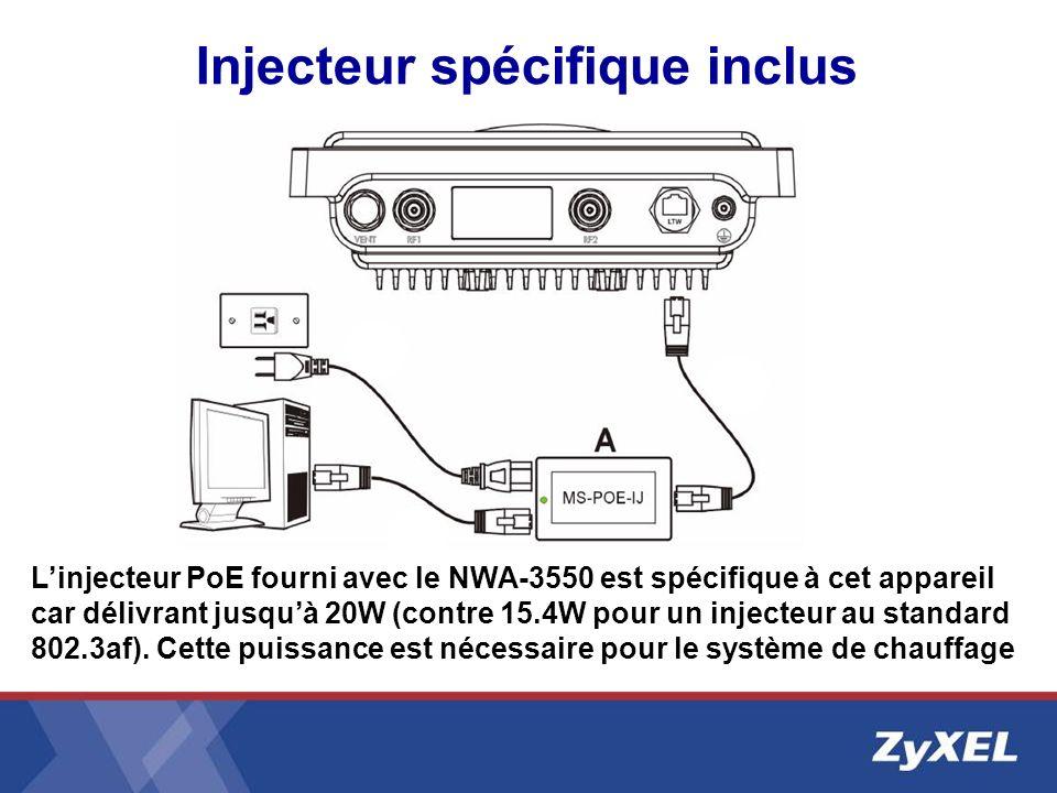 Injecteur spécifique inclus