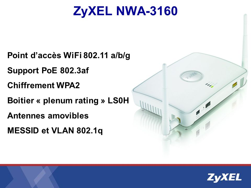 ZyXEL NWA-3160 Point d'accès WiFi 802.11 a/b/g Support PoE 802.3af