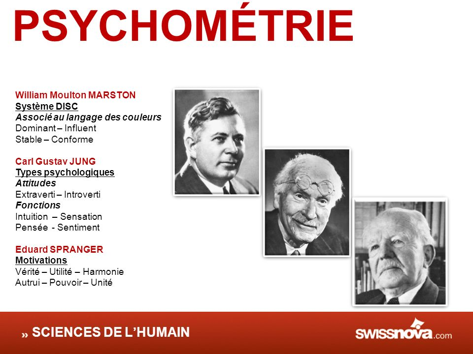 PSYCHOMÉTRIE SCIENCES DE L'HUMAIN William Moulton MARSTON Système DISC