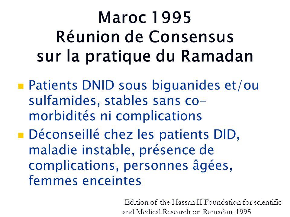 Maroc 1995 Réunion de Consensus sur la pratique du Ramadan