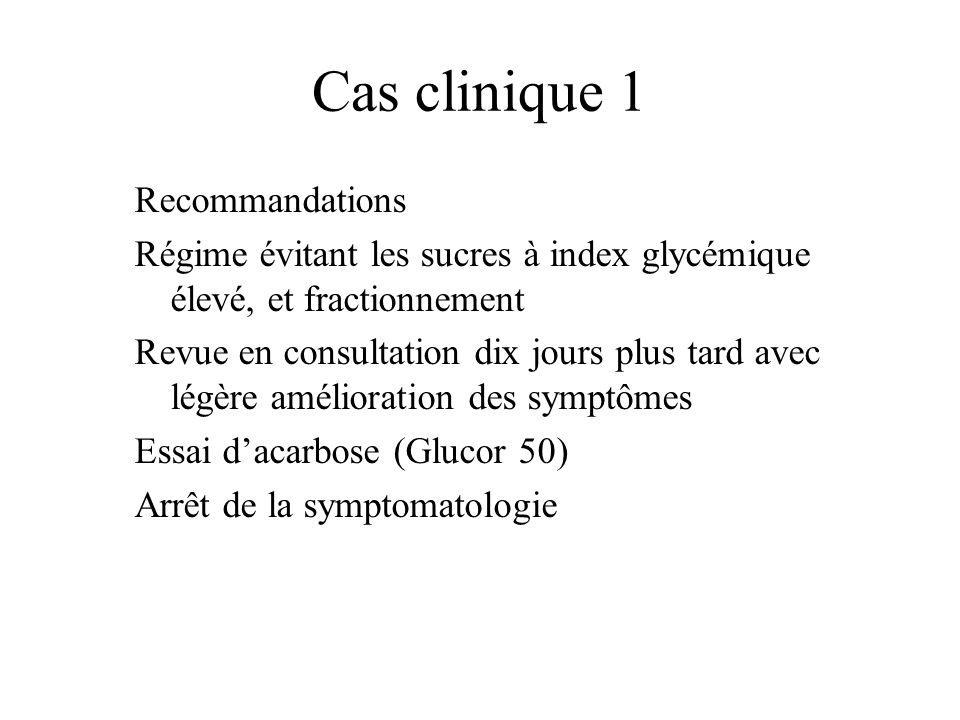 Cas clinique 1 Recommandations