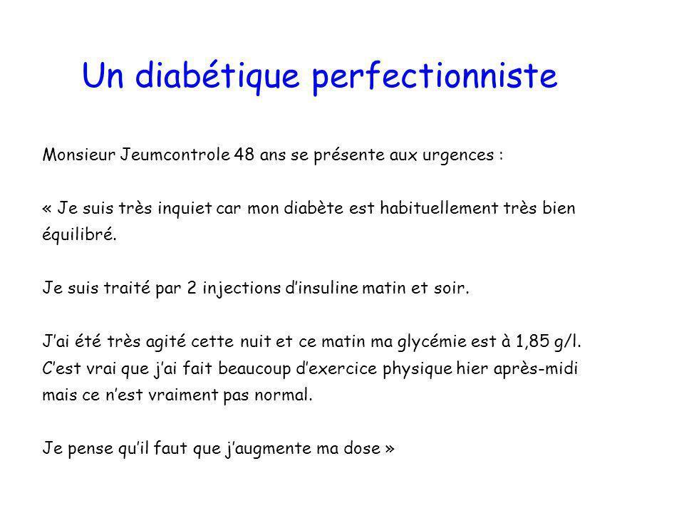 Un diabétique perfectionniste