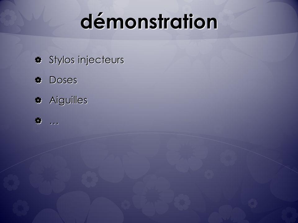 démonstration Stylos injecteurs Doses Aiguilles …