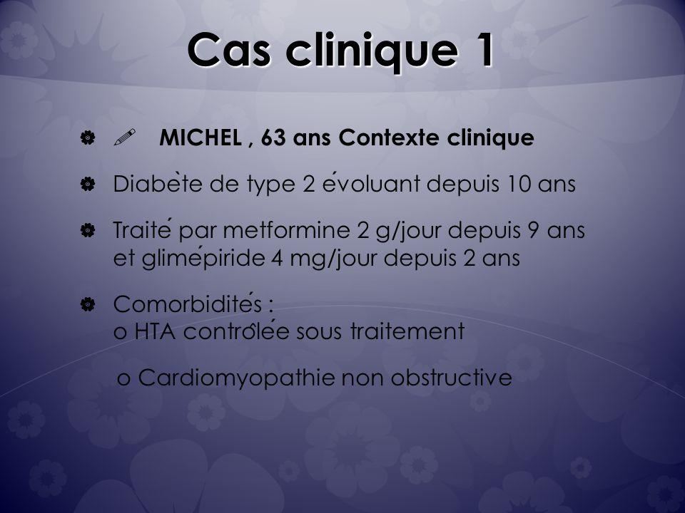 Cas clinique 1 ! MICHEL , 63 ans Contexte clinique