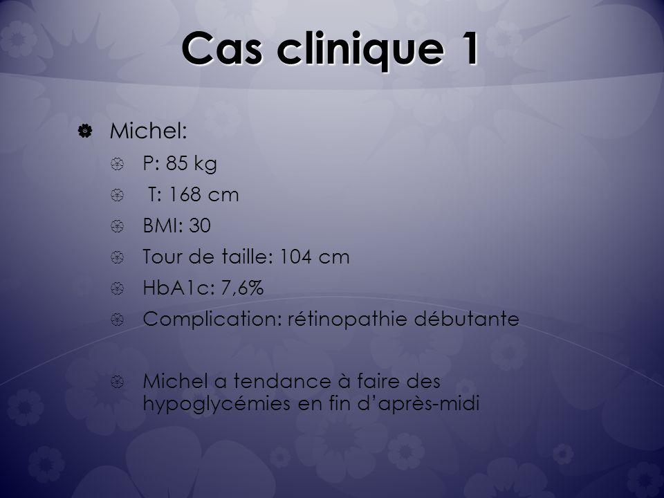 Cas clinique 1 Michel: P: 85 kg T: 168 cm BMI: 30