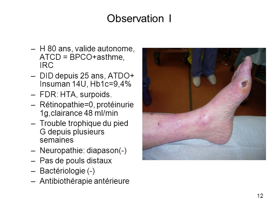 Observation I H 80 ans, valide autonome, ATCD = BPCO+asthme, IRC