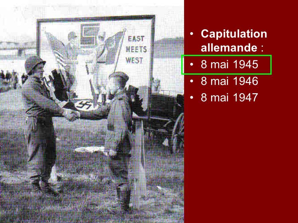Capitulation allemande :