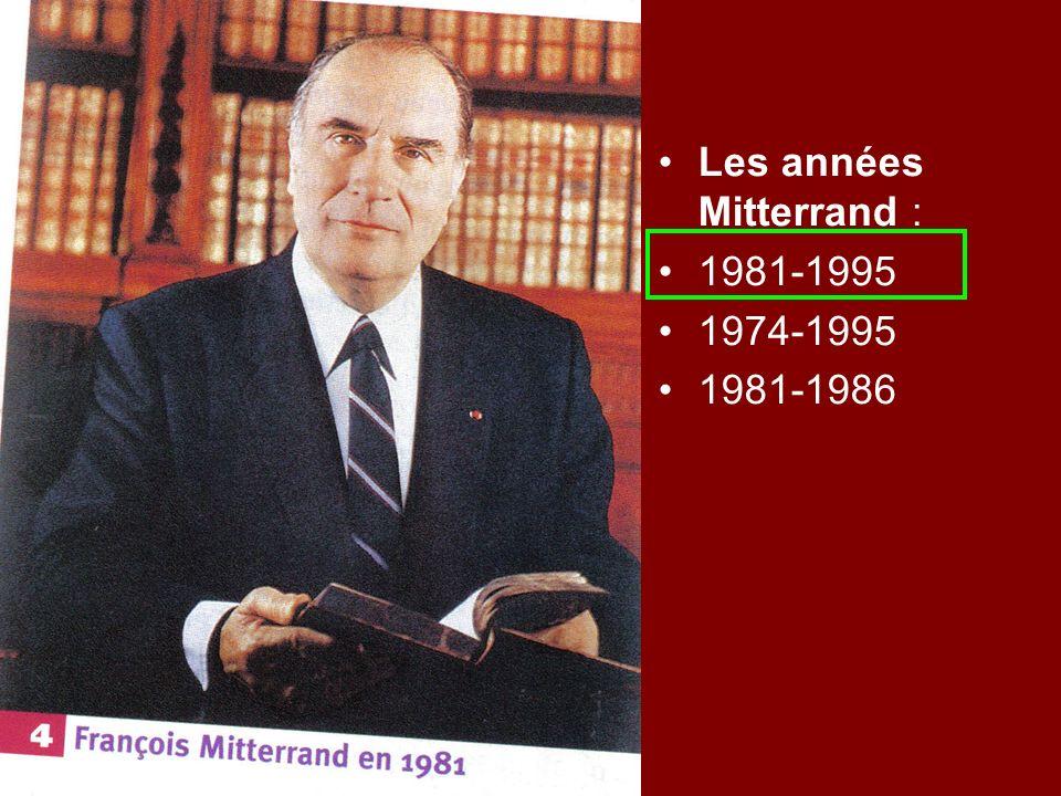 Les années Mitterrand :