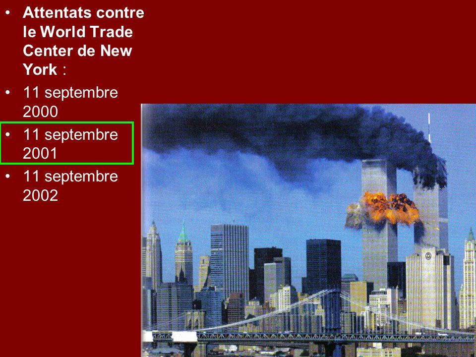 Attentats contre le World Trade Center de New York :