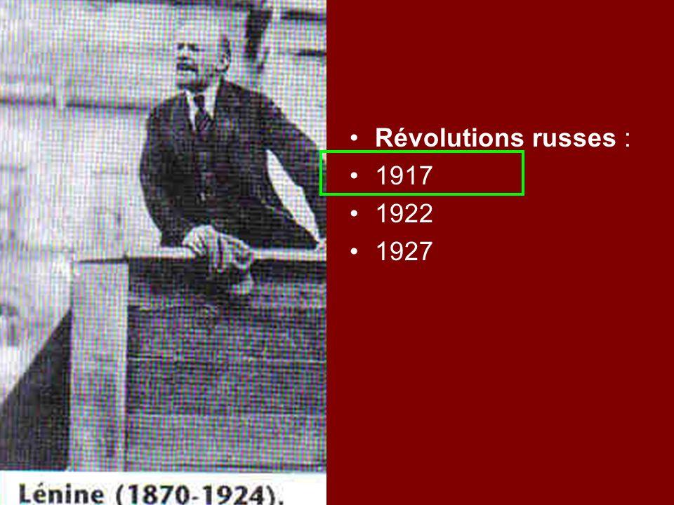Révolutions russes : 1917 1922 1927