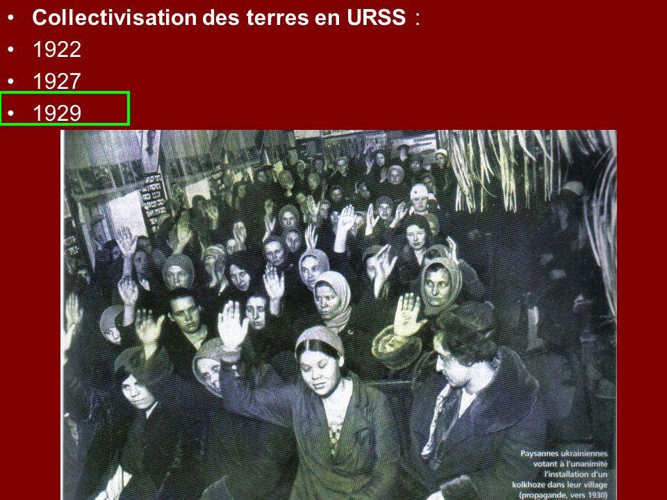 Collectivisation des terres en URSS :