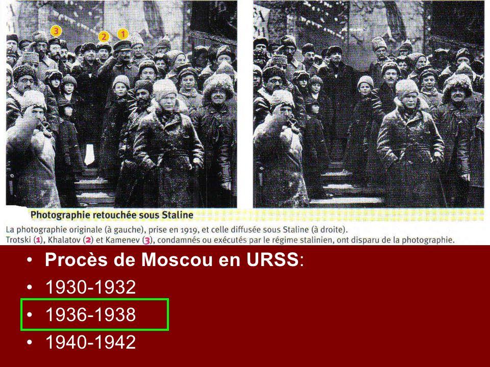 Procès de Moscou en URSS: