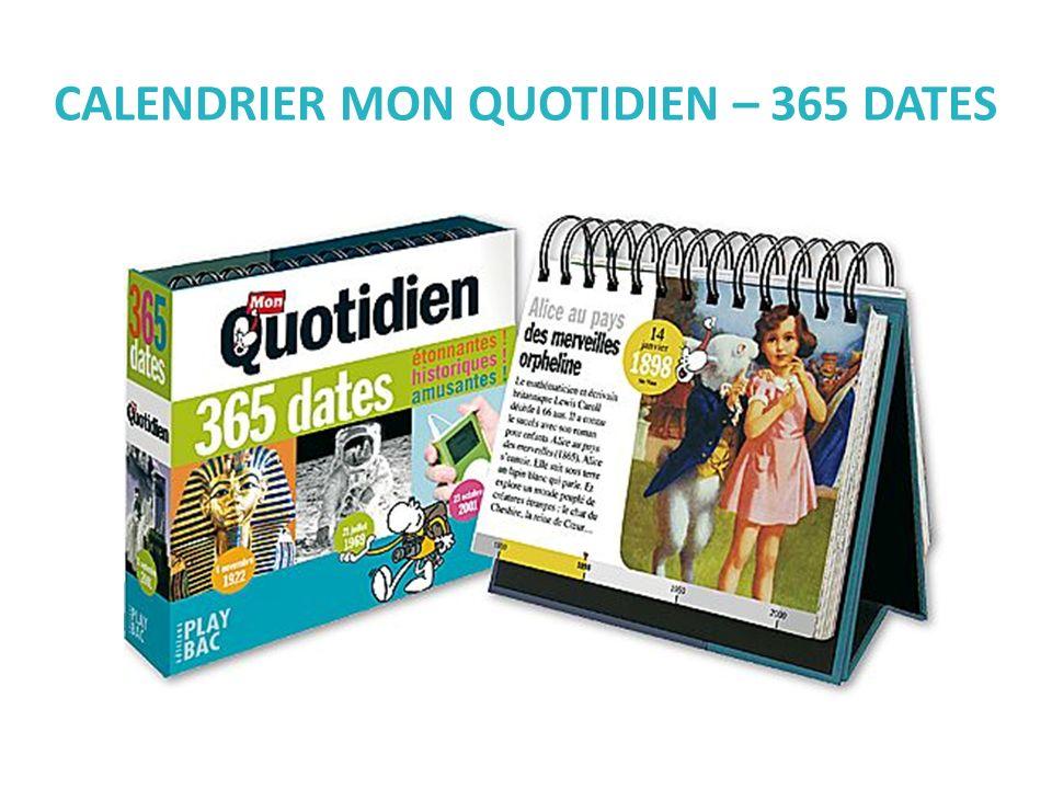 CALENDRIER MON QUOTIDIEN – 365 DATES