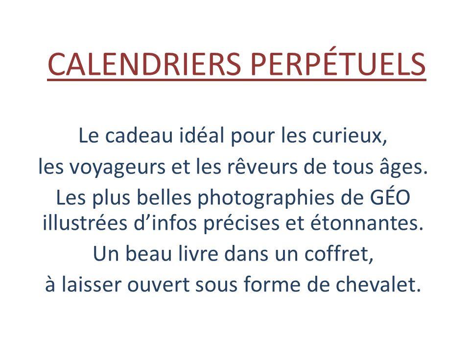 CALENDRIERS PERPÉTUELS