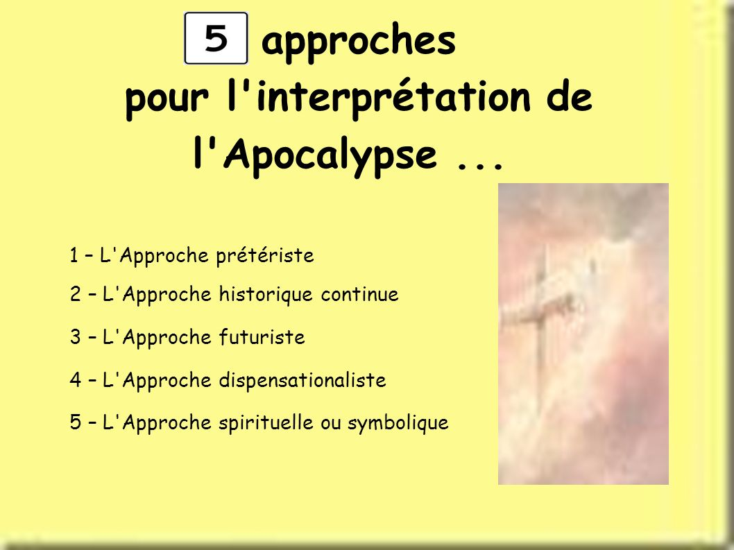 pour l interprétation de l Apocalypse ...
