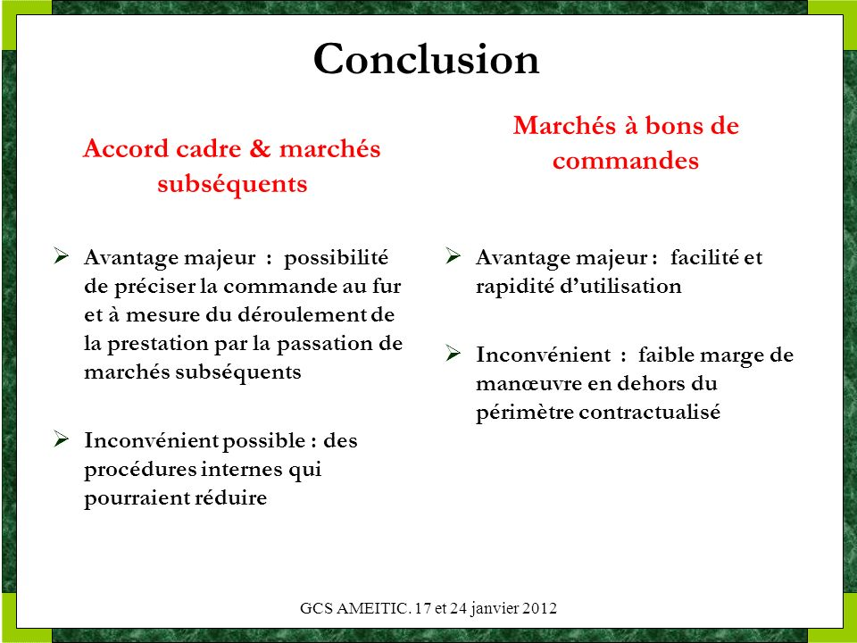 accord cadre et march 233 s subs 233 quents ppt t 233 l 233 charger