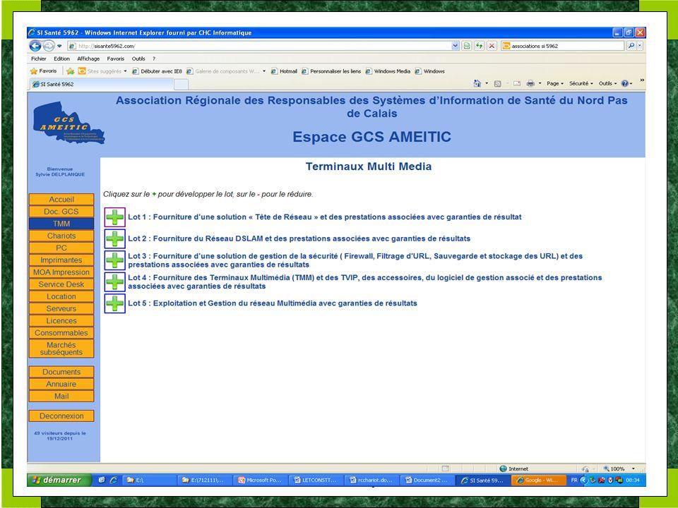 GCS AMEITIC. 17 et 24 janvier 2012