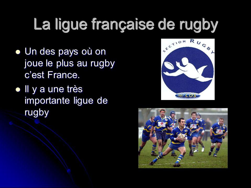 La ligue française de rugby