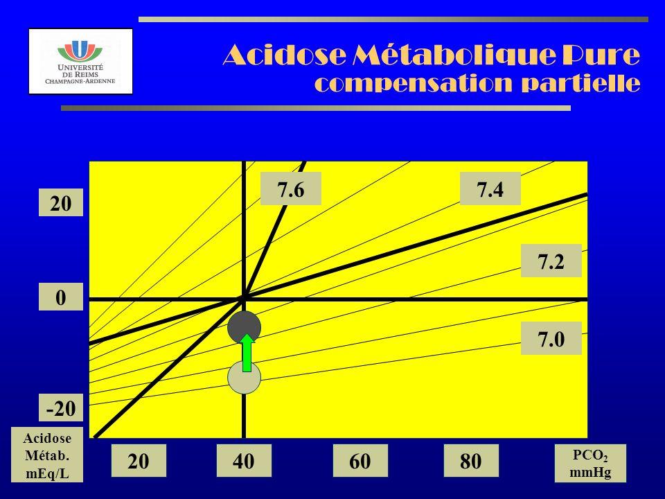 Acidose Métabolique Pure compensation partielle