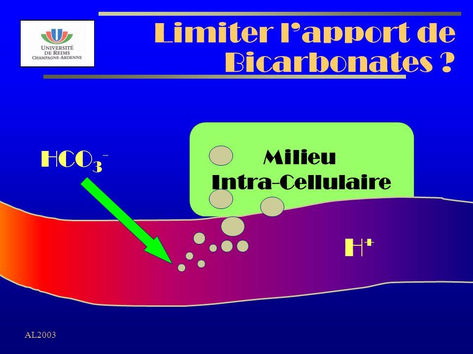 Limiter l'apport de Bicarbonates