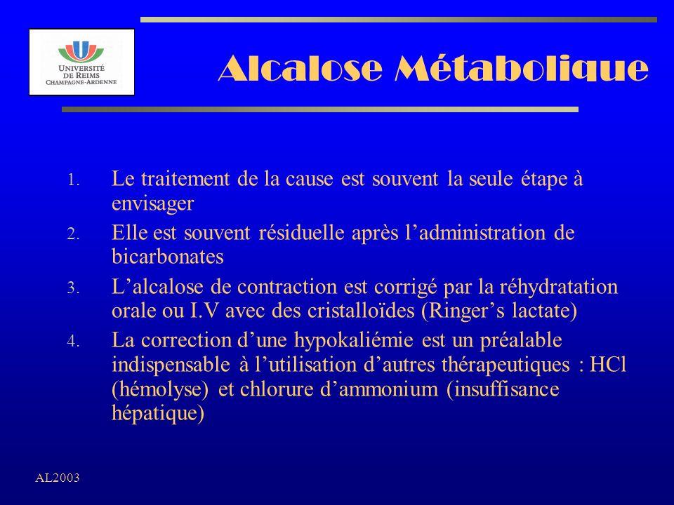 Alcalose Métabolique Le traitement de la cause est souvent la seule étape à envisager.