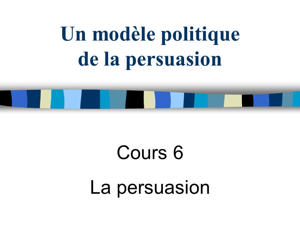 Un modèle politique de la persuasion