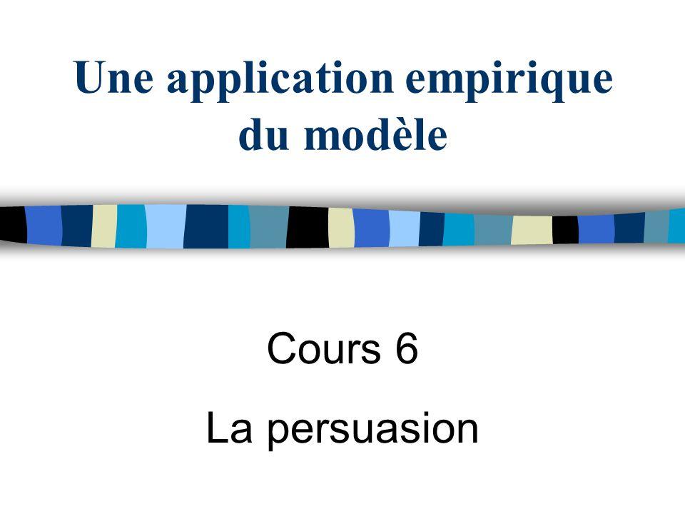 Une application empirique du modèle