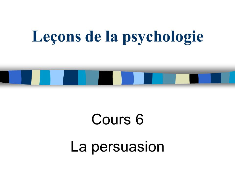 Leçons de la psychologie