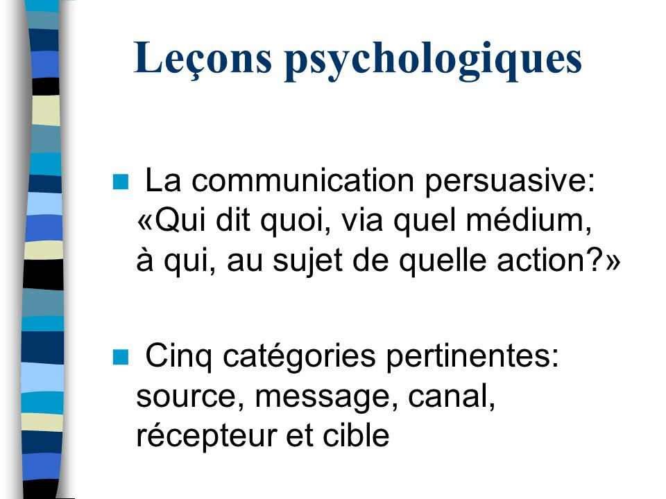 Leçons psychologiques