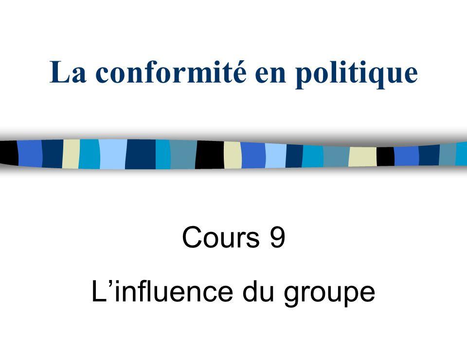 La conformité en politique