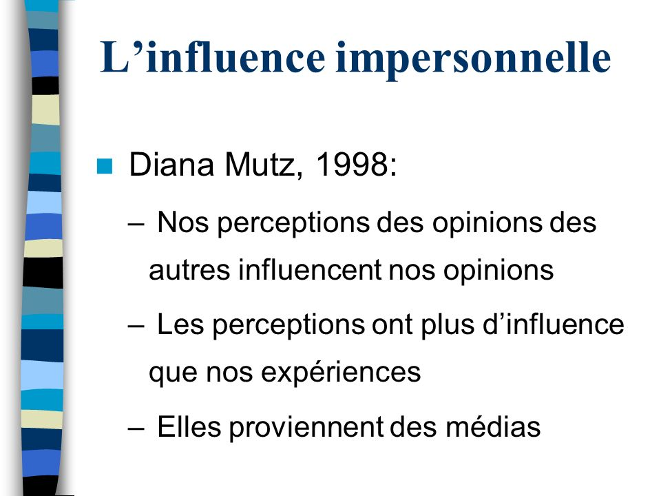 L'influence impersonnelle