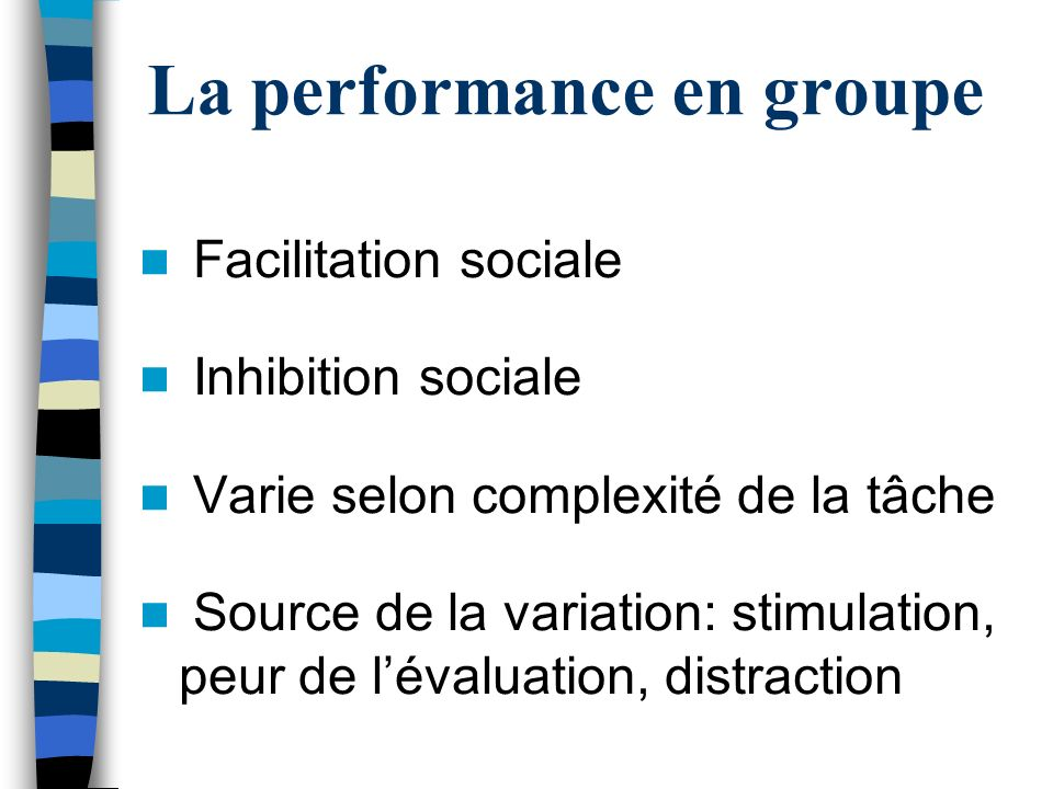 La performance en groupe